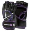 KimuraWear Womens's MMA Gloves Black Purple 4 oz