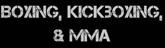 Boxing Kickboxing and MMA Header